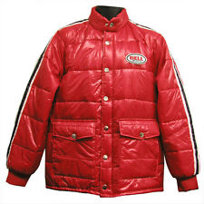 Bell Retro Vintage Puffy Puff Jacket Coat Red Black Adult Men's Medium MD M