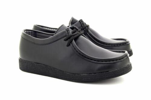 Boys Kids Junior Route 21 Pu Leather Lace-Up School Black Shoes Apron Quality