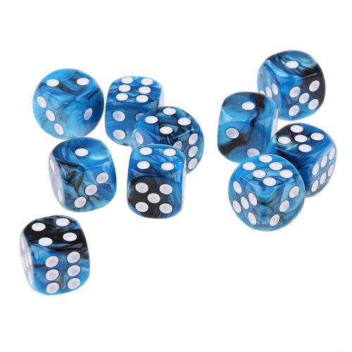 10pcs Acryl Würfel Doppelseitige Gepunktete Spielwürfel Für Kartenspiel