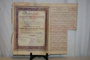Ancienne Action Glaces Du Midi De La Russie De 1899. Oeqv899v-07223748-484751784