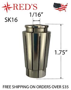"SK16 5 Micron .0002/"" PRECISION Collet 1//16/"" inch CNC Mill ATC Router chuck"