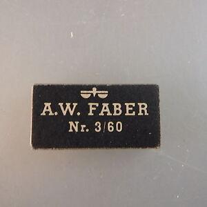Unbenützt aus Lagerbestand: A.W. Faber Minen Schwarz 1,18 mm (43218)
