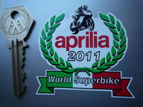 APRILIA WORLD SUPERBIKE 2011 Garland STICKER 65mm