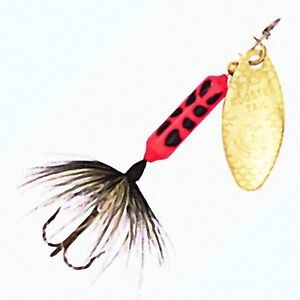 New flame coach dog rooster tail spinner lures with choice for Rooster tail fishing lure