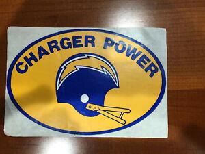 Vintage-1970-s-San-Diego-Charger-Power-Sticker-Decal-NFL-Original-Unused