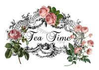 Fabric Block French Victorian Pink Roses Tea Time Scroll Elegant Chic And Shabby