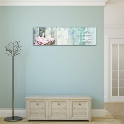 Wundervolles   Wandbild  Leinwandbild Kunstdruck Holz Optik 15F0042180 Blumenmus