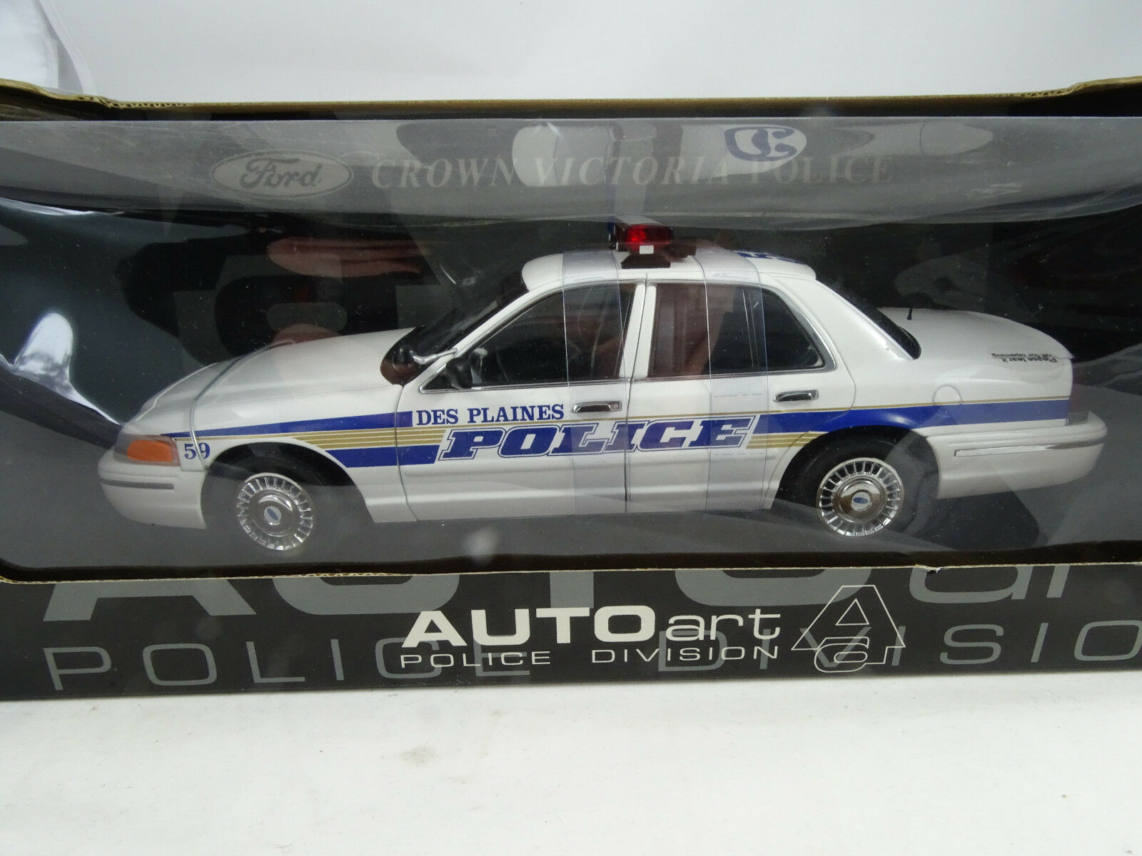 1 18 Autoart Ford Crown Victoria Police Des Plaines - Rarity