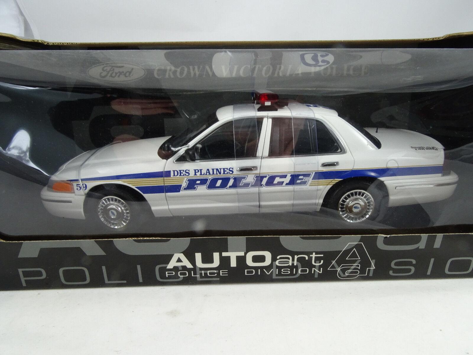 1 18 Autoart Ford Corona Victoria Police il Plaines - Rarità §
