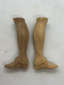 Coppia-piedi-scarpe-statue-wood-Foott-restauro-pastori-statua-3-8-Cm-pianta
