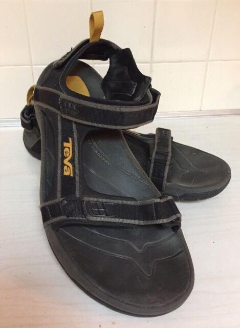 399c191cf TEVA TANZA 4141 Sport Sandals Mens 13 M Black Gold Anatomic ShocPad ...