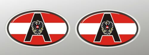 3 D mini Nationalitätenkennzeichen Österreich Sticker Auto Truck Bike Helm Handy