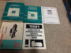 1991-FORD-MUSTANG-Gt-Cobra-Service-Shop-Repair-Workshop-Manual-Set ...
