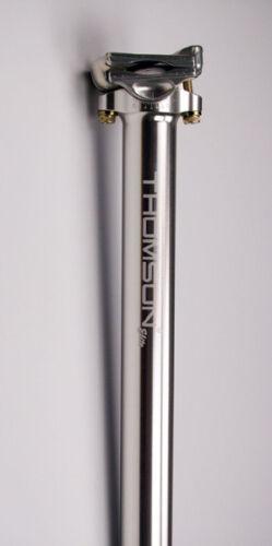 Thomson Masterpiece Bike Bicycle Zero Offset Seatpost 27.2 x 330mm Silver