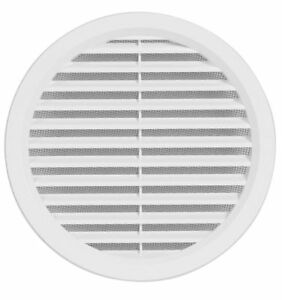 Circular-Air-Vent-Grille-Covers-High-Quality-ASA-Plastic-BROWN-amp-WHITE-ALL-SIZES
