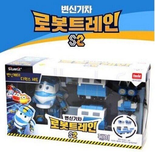 DAVIDleksak Robot Train S2 Transformer KAY Deluxe Spela Set ungar Hobbies Toys gry u MU
