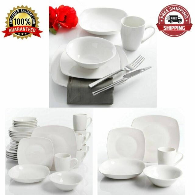 Muji Kitchen White Porcelain Wide Square Plates Dish From Japan For Sale Online Ebay