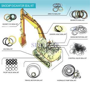 Details about SINOCMP SK330-8 Arm Boom Bucket Seal Kits for Kobelco  Excavator Parts Oil Seal