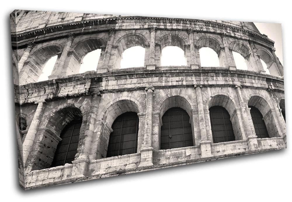 Colosseum Vintage Rome Landmarks SINGLE Leinwand Wand Kunst Bild drucken