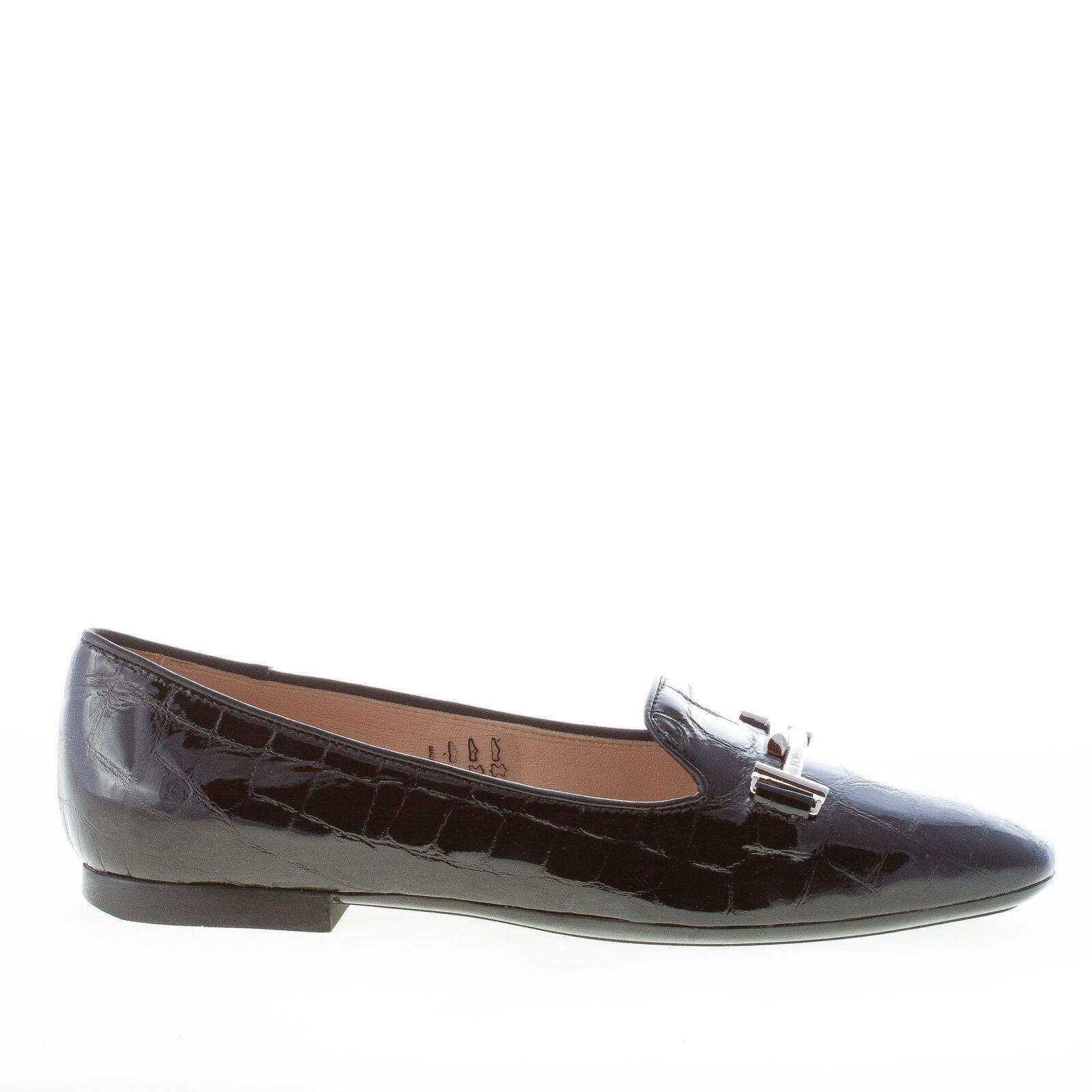 TOD'S damen schuhe black kroko print leder double T loafer XXW47A0V140FQMB999