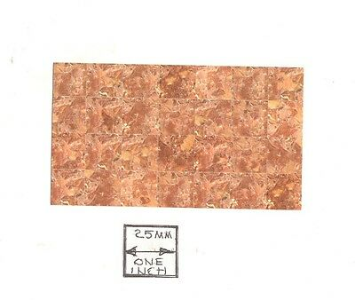 Half Scale Faux Marble Floor Sheet 1//24 Scale 24018 dollhouse World /& Model