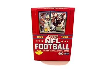 1990-Score-Football-Wax-Pack-Box-series-1-Set-CASE-FRESH