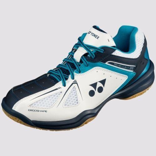 Blue Yonex POWER CUSHION 35 Badminton Shoes SHB35EX White