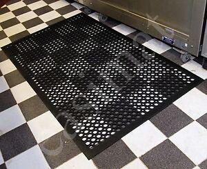 5x3inch Heavy Duty Indoor Industrial Rubber Bar Safety Floor Mat