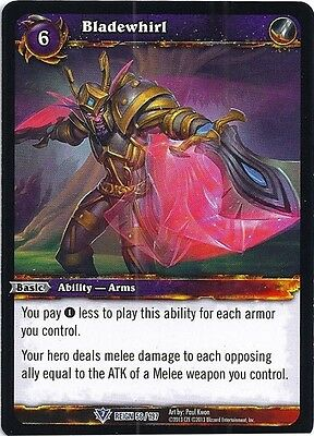 WORLD OF WARCRAFT WOW TCG REIGN OF FIRE : BLADEWHIRL X 3