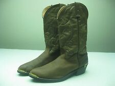 ROCKABILLY BROWN MADE IN USA COWBOY WESTERN MOTORCYCLE BIKER BOOTS SIZE 12 D