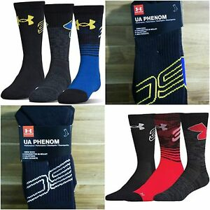 newest c2340 5a40c Details about 3 Pair Under Armour SC Mens Womens Kids Steph Curry UA Phenom  Basketball Socks