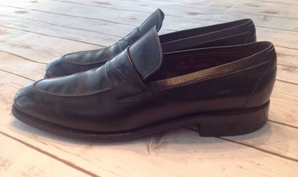 ALLEN EDMONDS SUTTON LOAFERS BLACK SMOOTH LEATHER SIZE USA!! 9.5 B, MADE IN USA!! SIZE dd1551