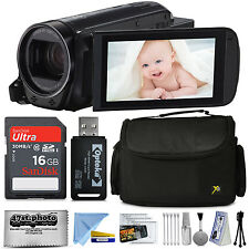 Canon VIXIA HF R700 HD Camcorder Video Camera (Black) + Accessories Kit Bundle