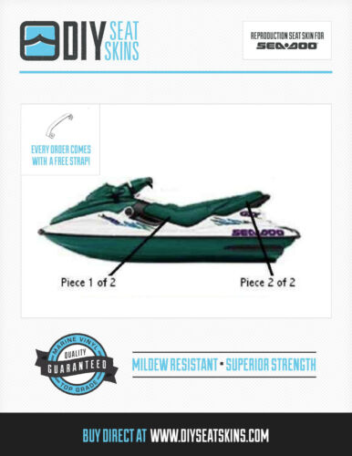 DI LTD 4-TEC GTI ^ GTS GTX SEA DOO HUNTER GREEN Seat Skin Cover 96 97 98 99 00