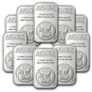 10-Lot 1 oz Apmex Silver Bar