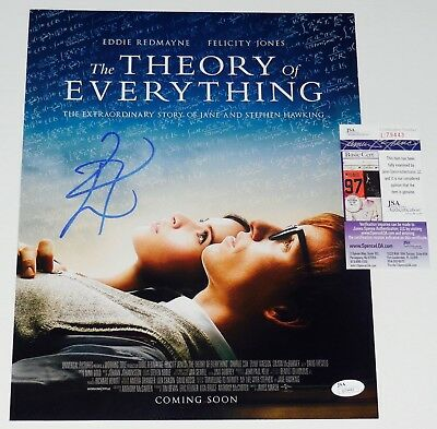 the Theory Of Everything At Any Cost - Jsa Coa Conscientious Eddie Redmayne Autographed 11x14 Photo
