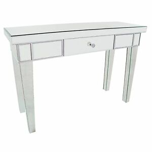 half off 180f5 653f6 Details about EXTRA LARGE Venetian Mirror Glass Single Drawer Console  Dressing Hall Table
