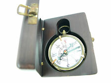 englischer Kompass Holzbox 1920 Messing Antik-Look London Dollond maritime Deko