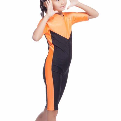 Kids Girls Muslim Islamic Modest Swimwear Full Body Swimsuit Swim Modest Costume