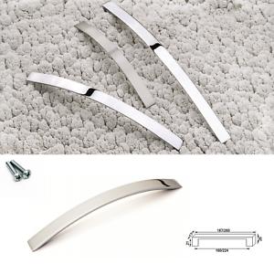 Cabinet Door Drawer Furniture Handle Brushed Chrome Bow Kitchen Bathroom Bedroom