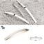 Cabinet-Door-Drawer-Furniture-Handle-Brushed-Chrome-Bow-Kitchen-Bathroom-Bedroom thumbnail 1