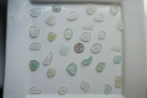 English-Sea-Glass-from-Cornwall-30-large-AQUA-WHITE-coloured-pieces