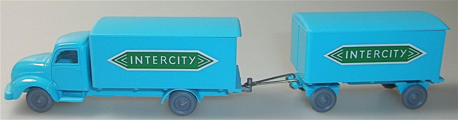 Intercity Magirus rundhauber hängerzug azul claro verde IMU h0 1 87  55  Å