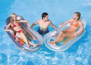 Inflatable-Lilo-Swimming-Pool-Lounger-Reclining-Float-Bestway-Cup-Holders-Sun