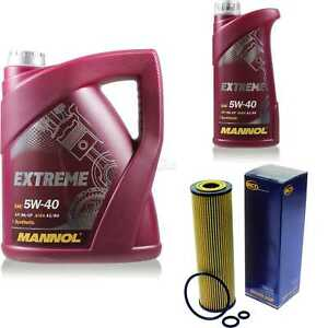 Olwechsel-Set-6L-MANNOL-Extreme-5W-40-Motoroel-SCT-Filter-KIT-10190837