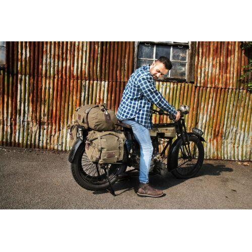 OXFORD Khaki 30L Motorbike Rear Roll Tail Bag Waterproof Vintage Retro
