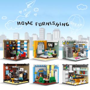 Bausteine Modell Modell Kreative Street View Home Decor Indoor Szene 6PCS Kind