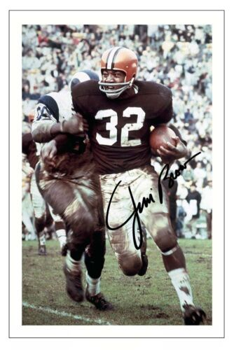 JIM BROWN CLEVELAND BROWNS SIGNED PHOTO AUTOGRAPH PRINT NFL FOOTBALL