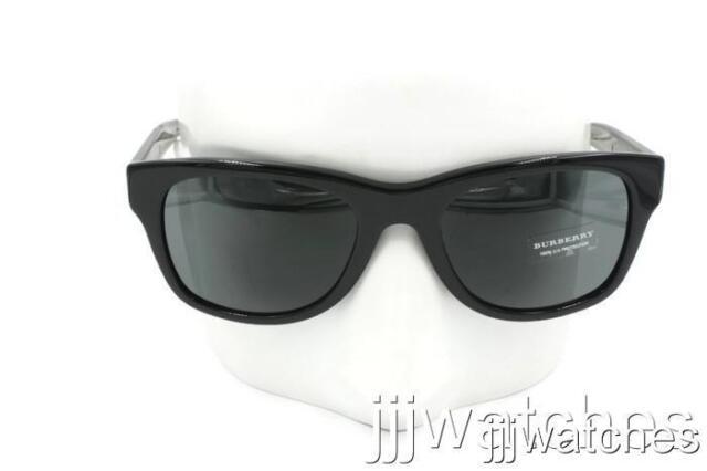 67aee356b57 New Burberry Women Classic Black Sunglasses Gray Lens BE4211 300187 55  205