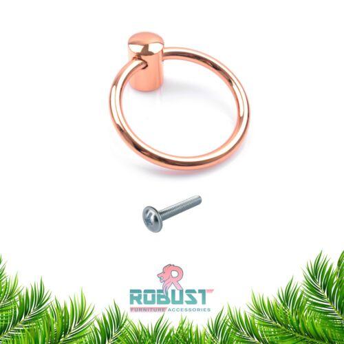 FINGER PULL SWING RING DRPO KITCHEN CABINET DRAWER CUPBOARD KNOB HANDLE UK